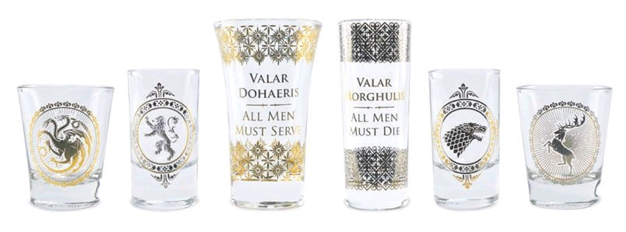 Game of Thrones - Black & Gold Premium Glass Set-HMBGLSSGT01