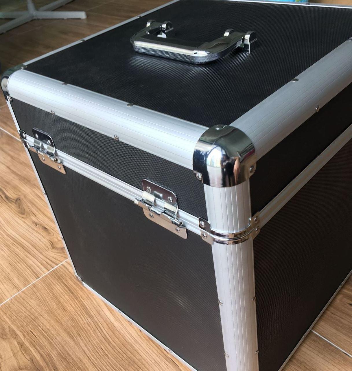 "Aluminium DJ Record Storage Flight Case-Removable lid-Holds 100 12"" Vinyl LP Box"