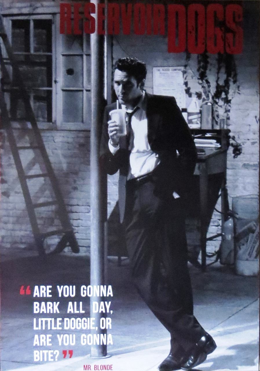 Reservoir Dogs -Are You Gonna Bark  - Poster-Laminated Available-90cm x 60cm-Brand New