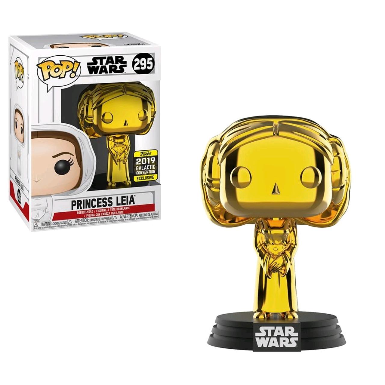 Star Wars - Princess Leia Gold Chrome SW19 US Exclusive Pop! Vinyl-FUN39083