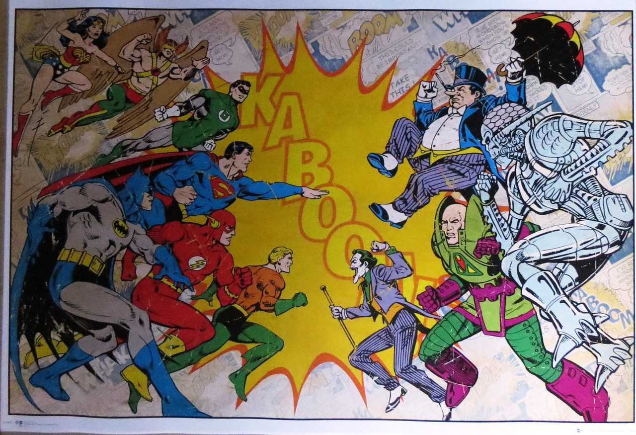 Batman-Kaboom-Heroes & Villains- Poster-Laminated Available-90cm x 60cm-Brand New