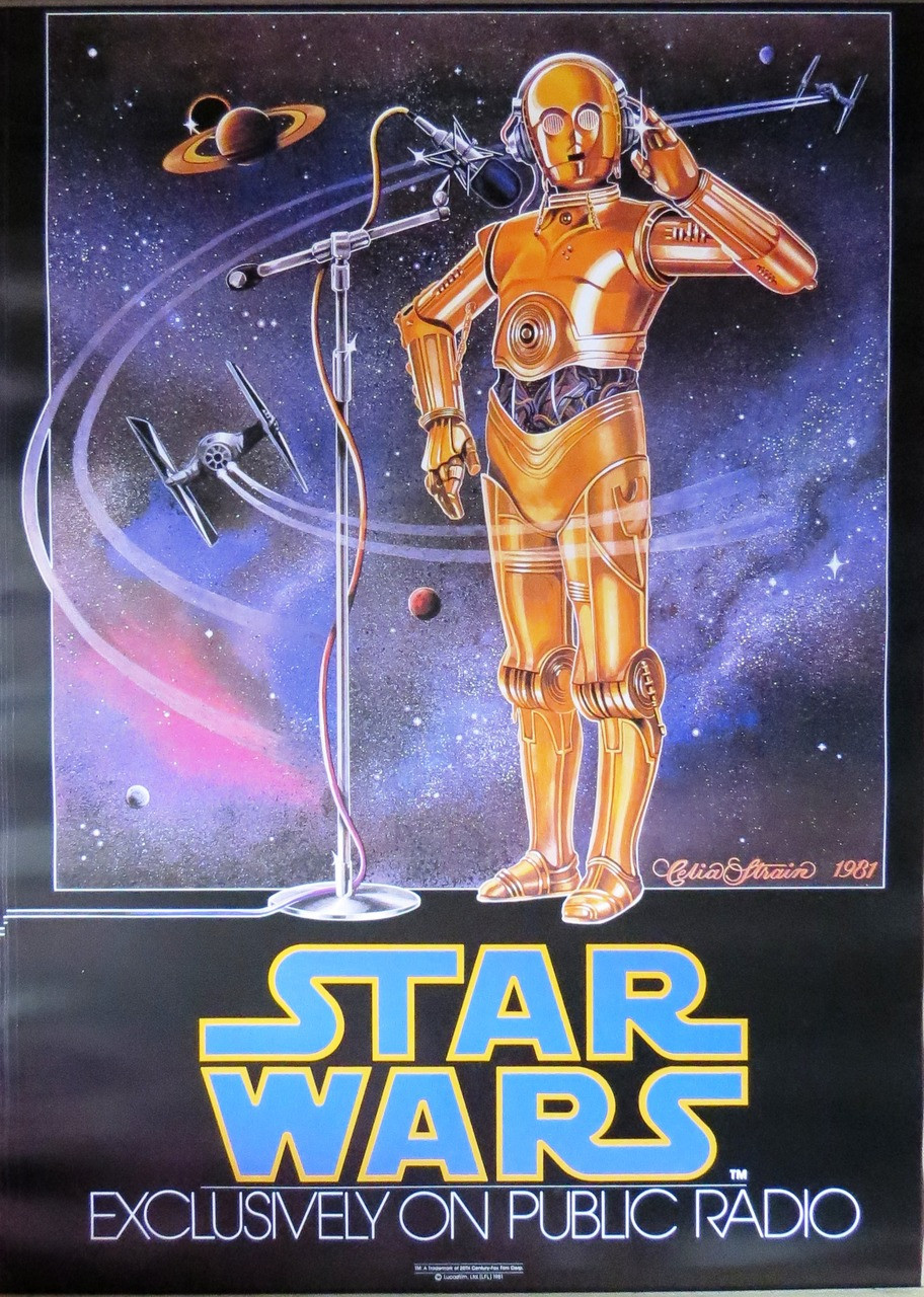 Star Wars Episode Iv A New Hope Public Radio Poster Laminated Available 100cm X 70cm Brand New Clockwork Culture