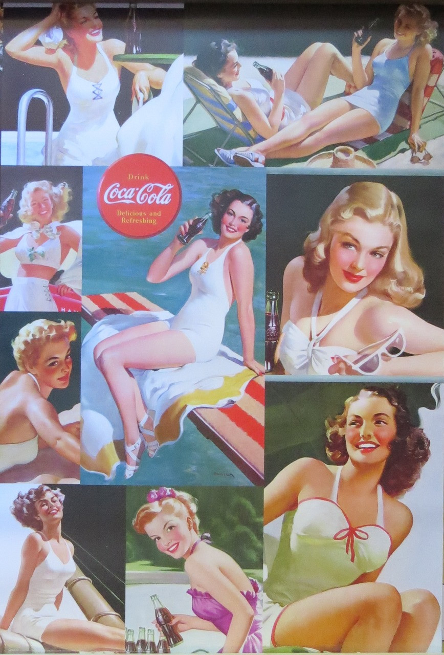 Coca Cola-Girls-Advertising- Poster-Laminated available-90cm x 60cm-Brand New