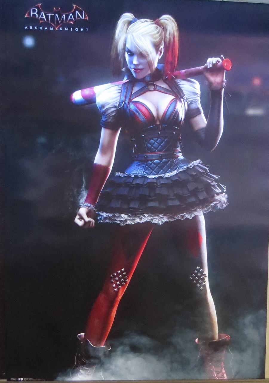 Batman-Arkham Origins-Harley Quinn-Baseball - Poster-Laminated Available-90cm x 60cm-Brand New