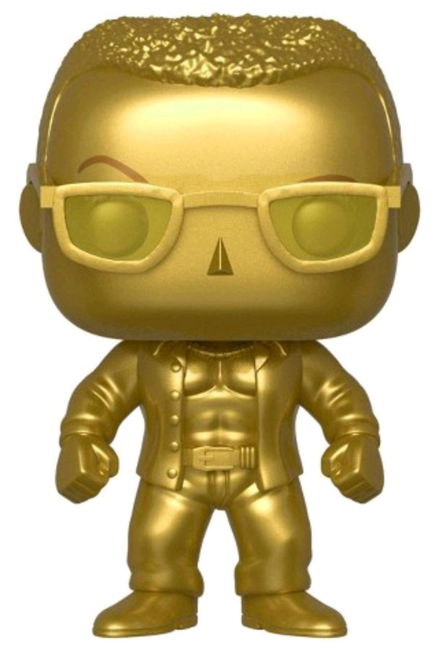 WWE - The Rock Gold Metallic US Exclusive Pop! Vinyl [RS]-FUN43006-FUNKO