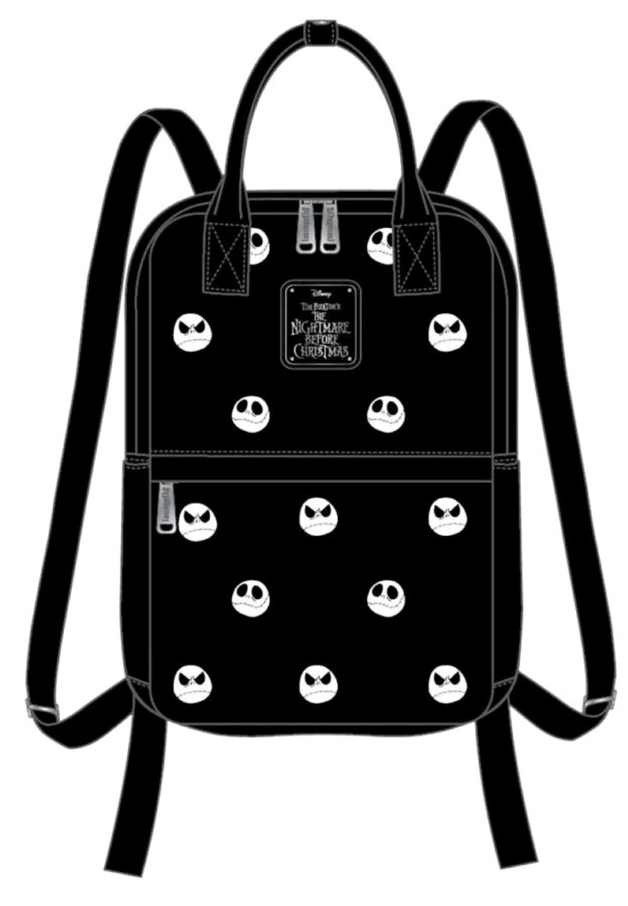 The Nightmare Before Christmas - Jack Head Embroidered Backpack-LOUWDBK0946-LOUNGEFLY