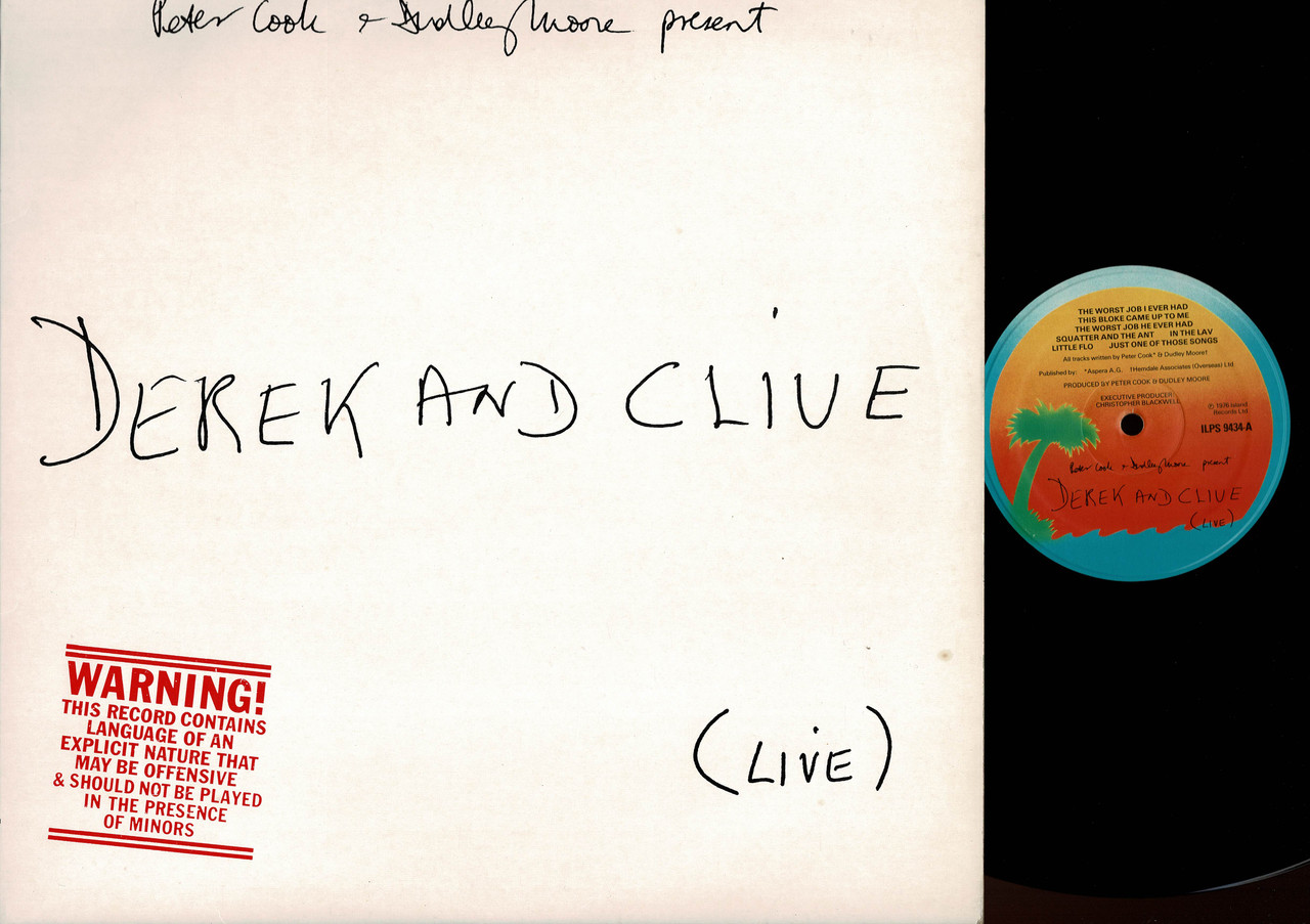 Peter Cook & Dudley Moore Present Derek & Clive-(Live)-VINYL LP-USED-UK press