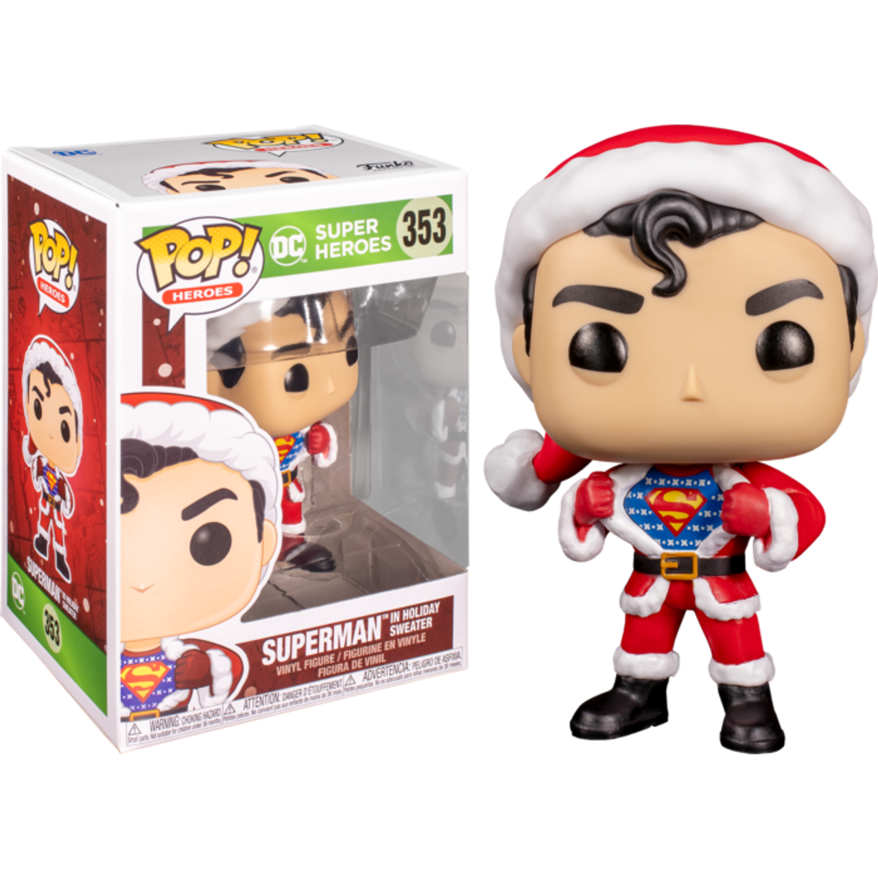 Superman - Superman Sweater Holiday Pop! Vinyl-FUN50651-FUNKO