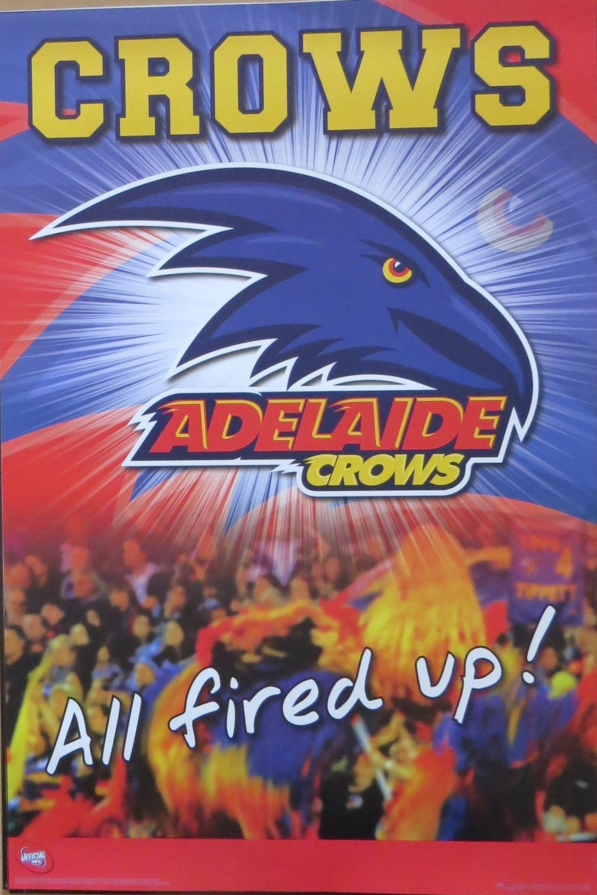 AFL - Adelaide Crows Logo-licensed-Poster-Laminated available-91cm-x-61cm-brand-new