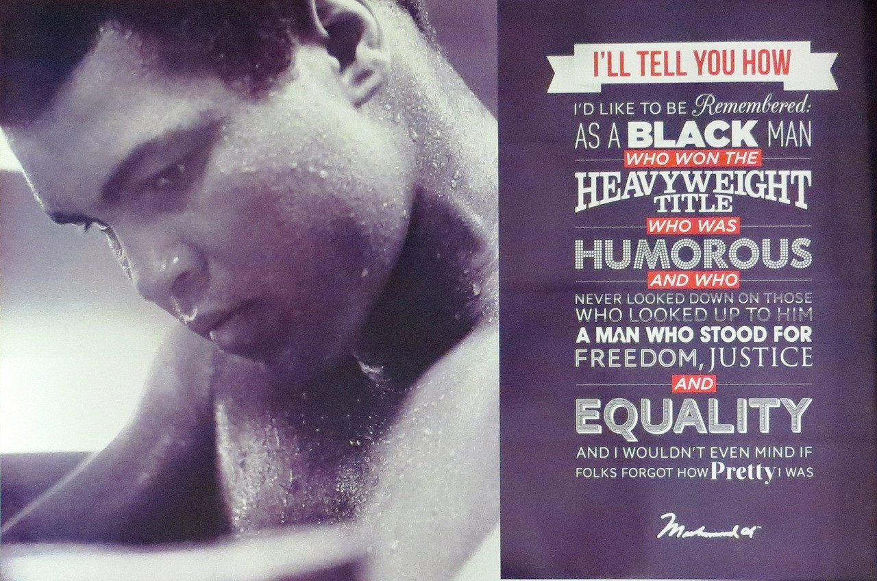 MUHAMMAD ALI-Quotes-Poster-Laminated available-90cm x 60cm-Brand New