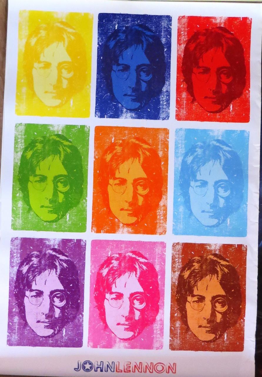 JOHN LENNON-Pop Art (slight damage)-Poster-Laminated available-90cm x 60cm-Brand New