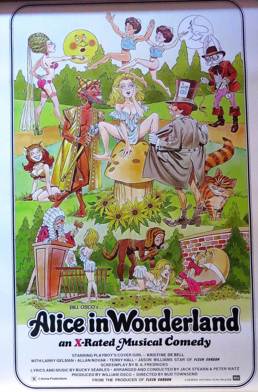ALICE IN WONDERLAND ADULT FILM -Poster-Laminated available-90cm x 60cm-Brand New