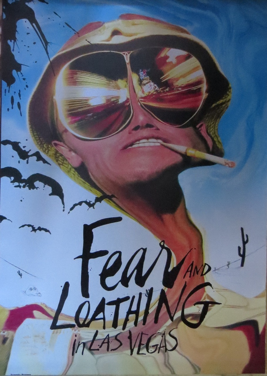 FEAR & LOATHING IN LAS VEGAS-Cigarette -Poster-Laminated available-90cm x 60cm-Brand New