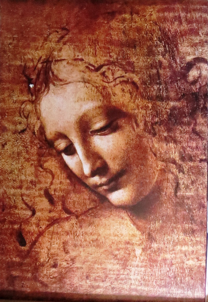 DaVinci, Leonardo - Female Head- Poster-Laminated available-90cm x 60cm-Brand New