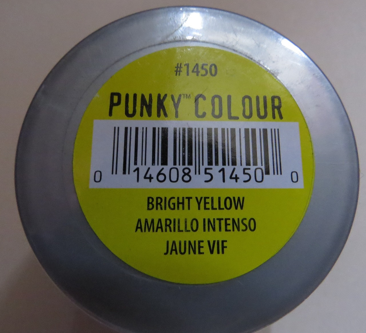 Punky Colour-BRIGHT YELLOW-100ml HAIR DYE Jerome Russell- New/Sealed-Punk