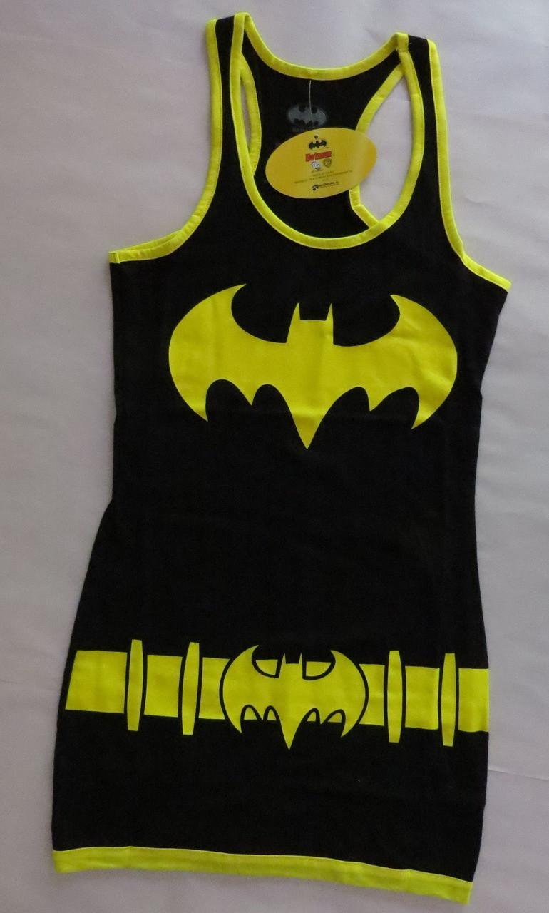 Batman Racerback Tank Top Mini-Dress-Medium-Brand New