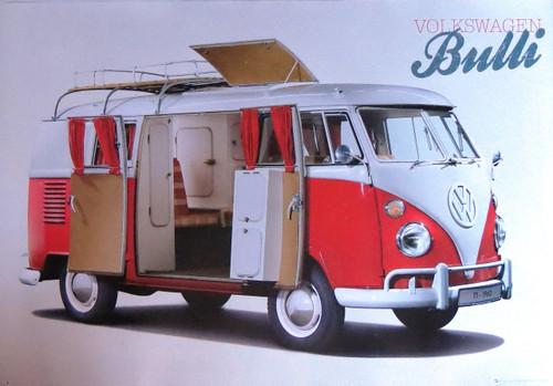 VW Camper Bulli-Volkswagen- Poster-Laminated available-90cm x 60cm-Brand New