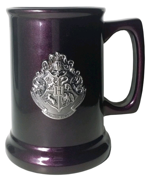 Harry Potter - Hogwarts / Deathly Hallows Metallic Crest Tankard-IKO1235