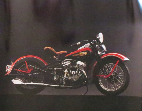 1940 HARLEY DAVIDSON- Poster-Laminated available-50cm x 40cm-Brand New