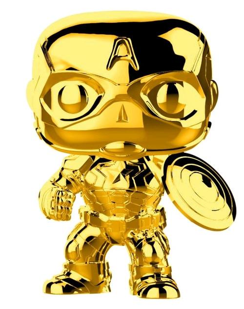 Marvel Studios 10th Anniversary - Captain America Gold Chrome Pop! Vinyl-FUN33515