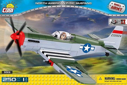 Small Army - 250 piece North American P-51C Mustang-COB5513