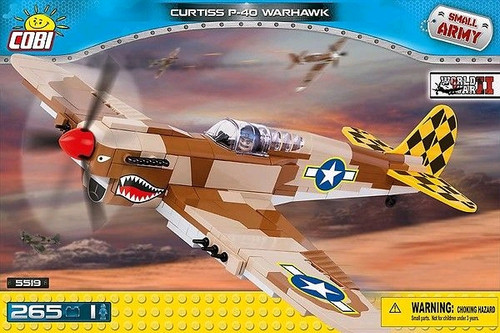 Small Army - 265 piece Curtiss P40K Warhawk-COB5519
