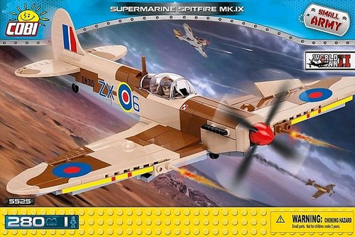 Small Army - 280 piece Supermarine Spitfire Mk IX-COB5525