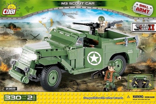 Small Army - 330 piece M3 Scout Car-COB2368
