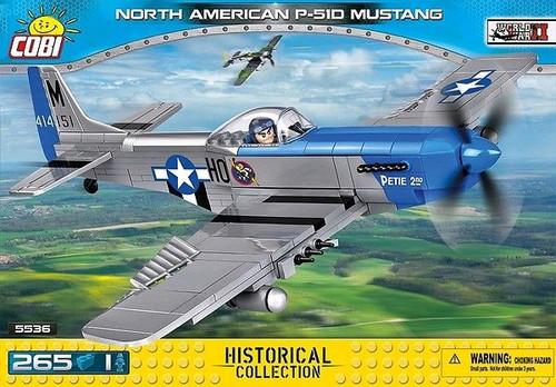 World War II - 265 piece North American P-51D Mustang-COB5536