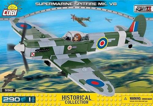 World War II - 290 piece Supermarine Spitfire Mk. VB-COB5512