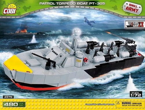 Small Army - 480 piece Patrol Torpedo Boat PT-305-COB2376