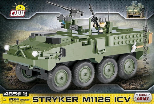 Small Army - 485 piece Stryker M1126 ICV Infantry Carrier Vehicle-COB2610