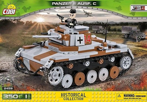 World War II - 350 piece Panzer II Ausf.C-COB2459