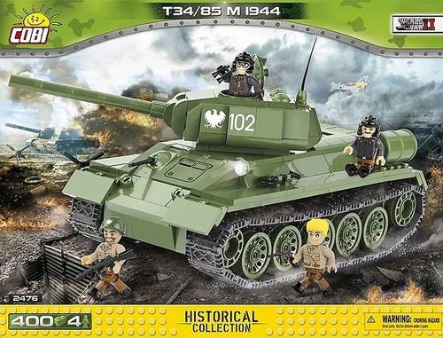 World War II - 400 piece T34/85 M 1944 Soviet Tank-COB2476