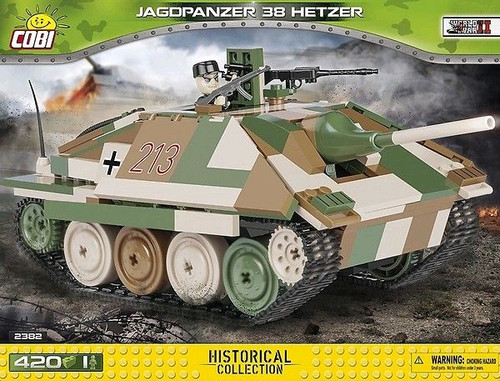 World War II - 420 piece Jagdpanzer 38 Hetzer-COB2382