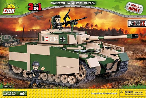 Small Army - 500 piece Panzer IV Ausf.F1/G/H-COB2508