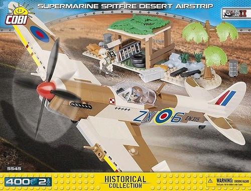 World War II - 400 piece Supermarine Spitfire Desert Airstrip-COB5545