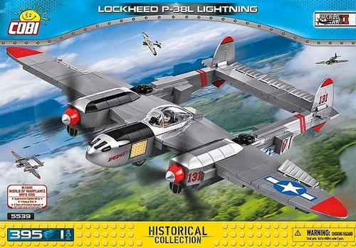 World War II - 395 piece Lockheed P-38L Lightning-COB5539