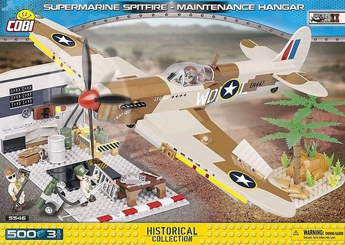 World War II - 500 piece Supermarine Spitfire Maintenance Hangar-COB5546