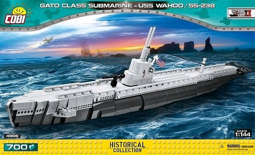 World War II - 670 piece Gato Class Submarine USS Wahoo /SS-238-COB4806