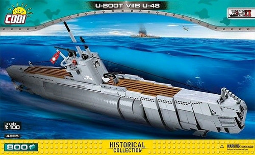 World War II - 800 piece U-Boot VIIB U-48-COB4805