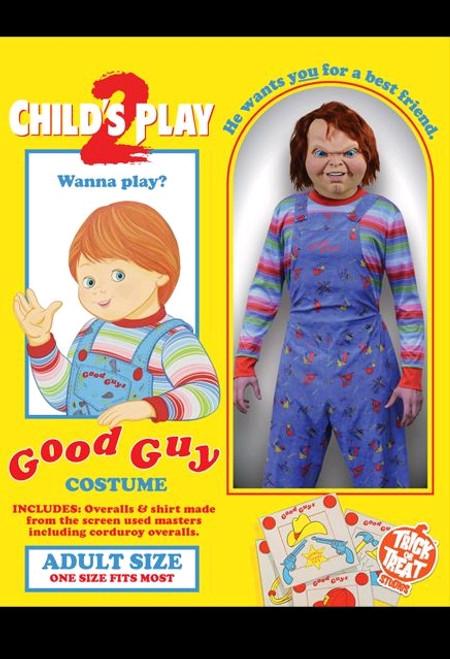 Child's Play 2  - Deluxe Good Guy Costume Adult-TTSGZUS100