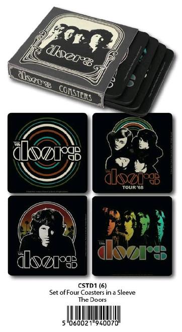 The Doors - Coasters Set Of 4 In Sleeve-HMBCSTD1