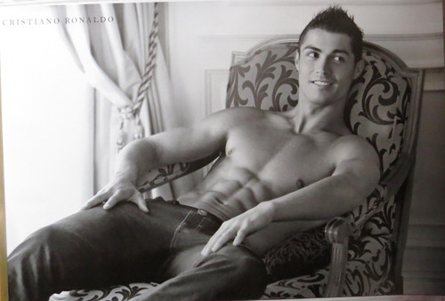 Cristiano Ronaldo -Topless-Poster-Laminated Available-90cm x 60cm-Brand New