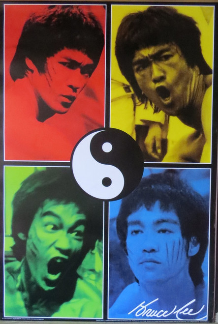 BRUCE LEE - COLOURS- Poster-Laminated Available-90cm x 60cm-Brand New