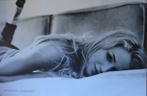 Jennifer Lawrence - Couch - Poster-Laminated Available-90cm x 60cm-Brand New
