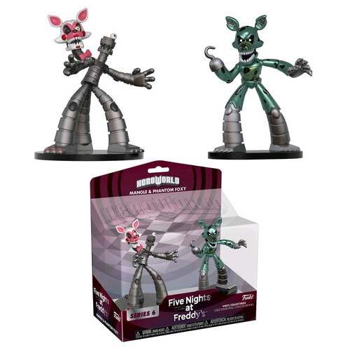 Five Nights at Freddy's: Sister Location - Hero World Yenndo & Funtime Foxy 2-pack [RS]-FUN30485