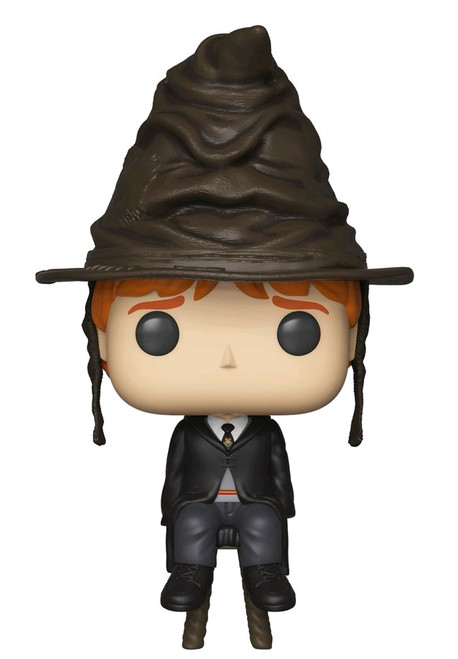 Harry Potter - Ron Wealey with Sorting Hat US Exclusive Pop! Vinyl [RS]-FUN35516