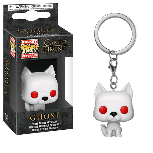 Game of Thrones - Ghost Pocket Pop! Keychain-FUN34910