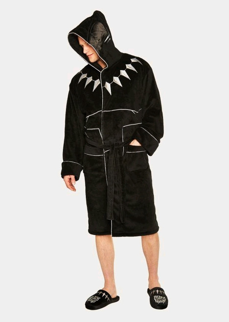 Black Panther - Fleece Bathrobe-GVY91802